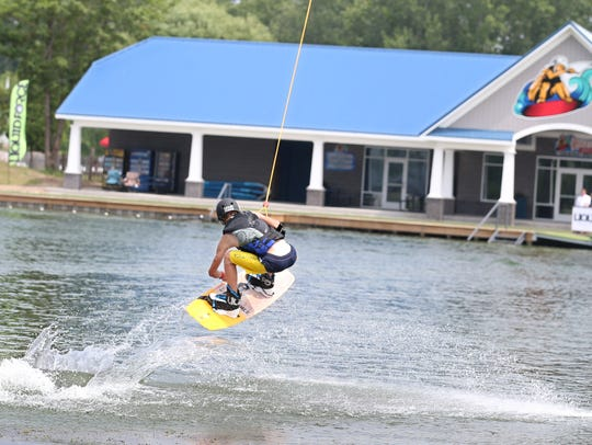 A wakeboarder at the Roseland park in 2015.