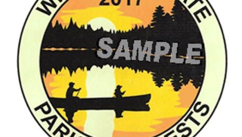 This year's Wisconsin State Park sticker was designed by Emily Olson of Cedarburg High School.