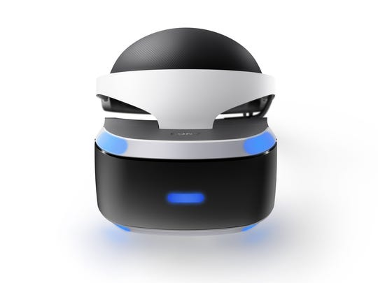 The PlayStation VR virtual reality headset.
