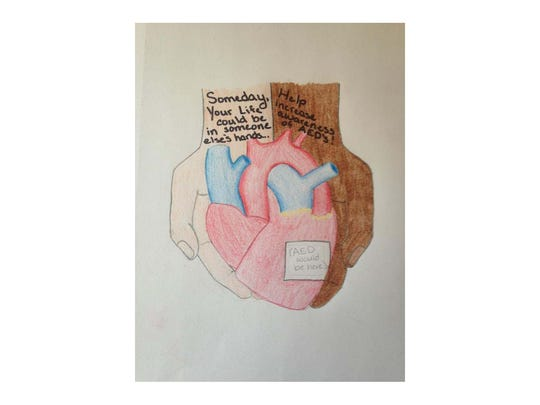 AED art contest design by Kennedee Weber.