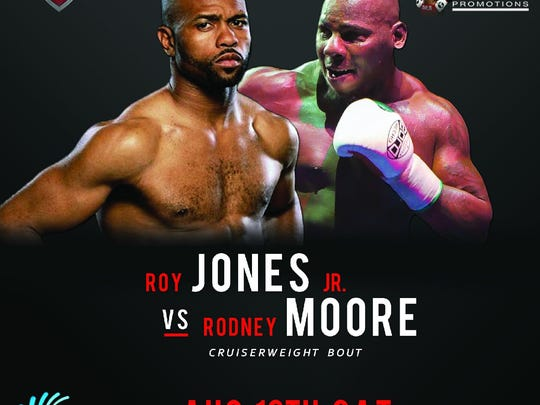 The poster has already been made for Island Fights 38 featuring Roy Jones Jr.
