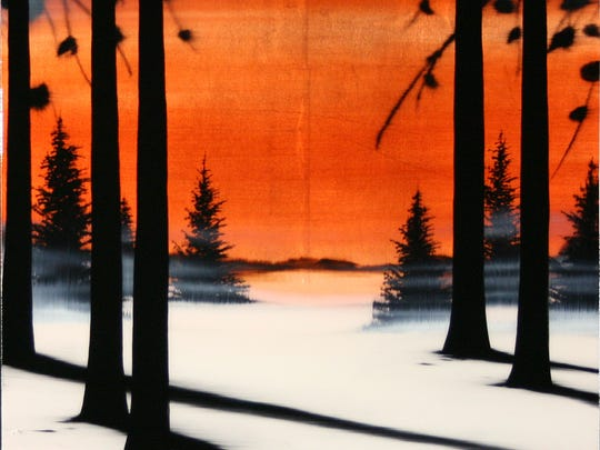 """""""Day's End"""" by Hamilton Aguiar at Nan Miller Gallery."""