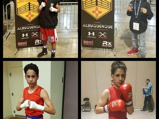 Fallstown Boxing's Emmanuel Carrillo and Jason Esparza