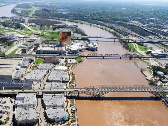 The Red River during the 2016 flood.