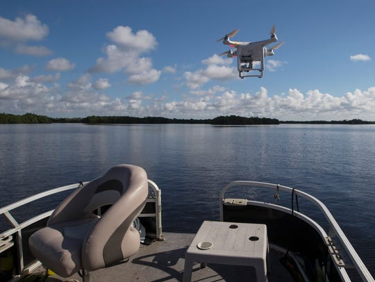 This drone, piloted by Ecologist Church Roberts, was