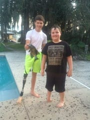 Jack Williamson, 10, in Florida with fellow Limbs Matter