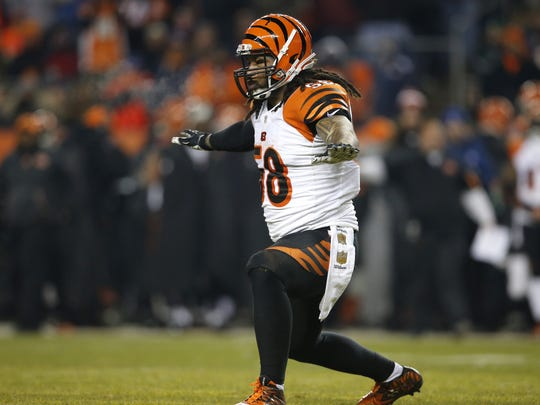 best website 49a3d 9b65f Ex-Bengals linebacker Rey Maualuga dealing with lots of changes