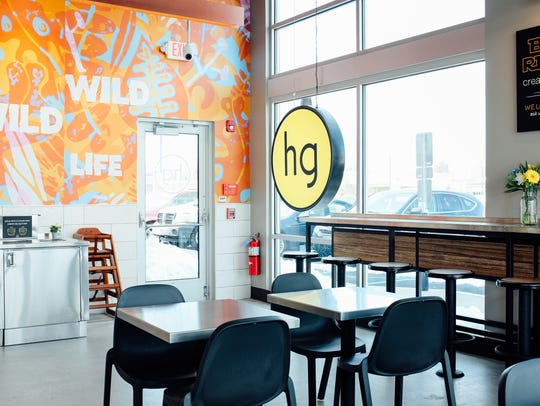 The interior of the new honeygrow in Marlton features