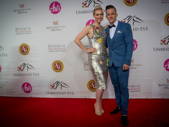 Country Music Duo Thompson Square arrive on the red carpet at the Unbridled Eve Gala at The Galt House in Louisville, Kentucky, Friday, May 4, 2018