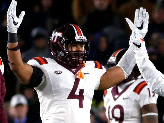 Virginia Tech quarterback Jerod Evans ranks third in the ACC in total touchdowns (34).