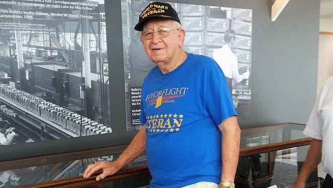 Longtime Evansville resident and World War II veteran Virgil Messel will throw out the first pitch at Sunday's St. Louis Cardinals' game.