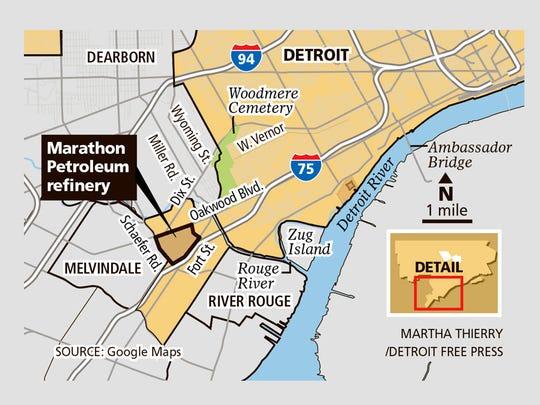Marathon Petroleum refinery location