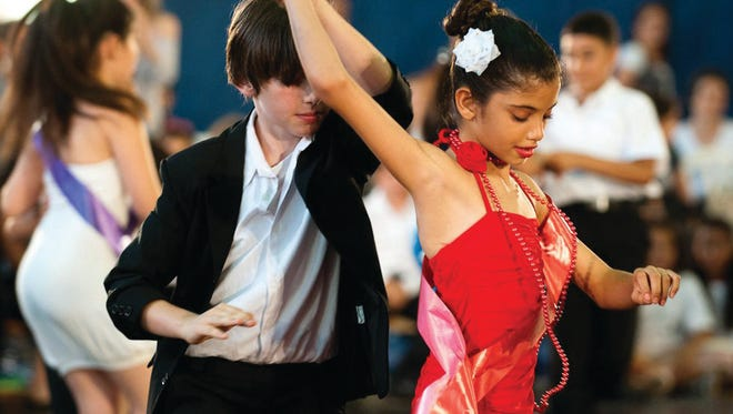 """Jewish and Palestinian children learn to tango and rumba, and in the process cultural lessons are learned, too, in """"Dancing in Jaffa,"""" produced by La Toya Jackson, Nigel Lythgoe and others."""