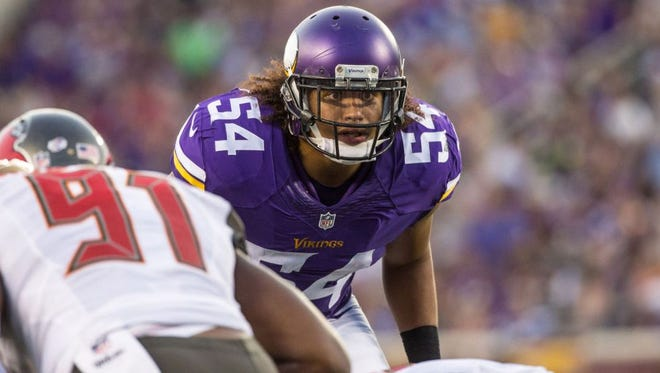 Eric Kendricks, the younger brother of Eagles linebacker Mychal Kendricks, is second on the Vikings with 37 tackles.