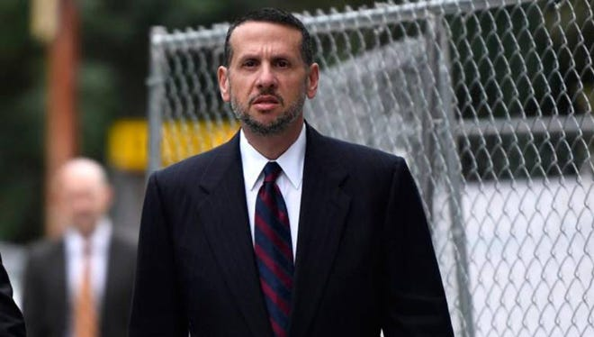 David Wildstein outside federal court on Tuesday, Oct. 4, 2016.