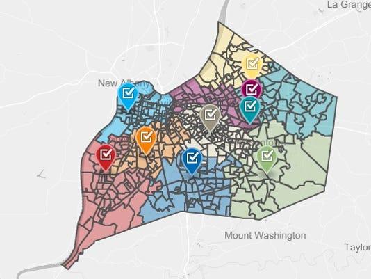 Caucus map