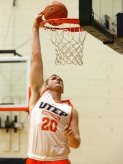 Freshman center Joey St. Pierre, out of Richmond-Burton High School in Spring Grove, Ill., is the latest Miner recruit to hit the hardwood at UTEP. Coming in at 6-10 and 280 pounds, he already is being compared to former Miner great Cedrick Lang.