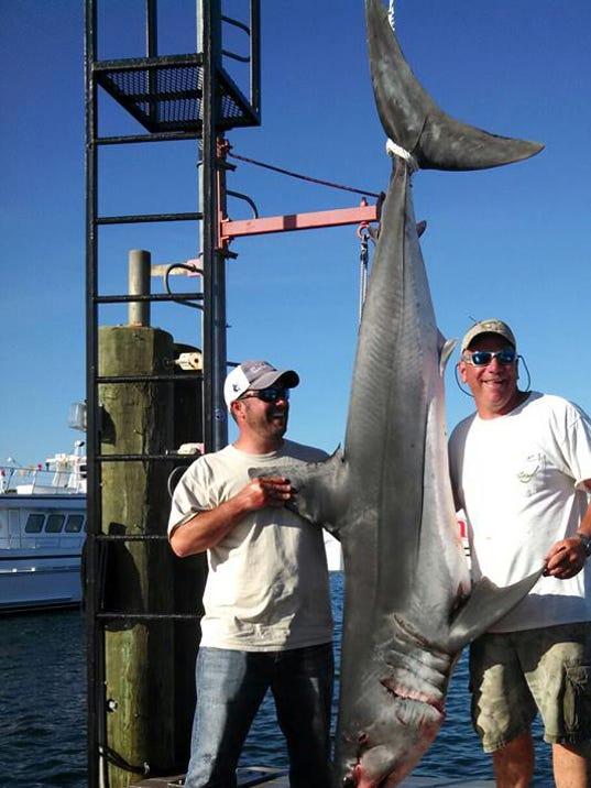 GAN SHARK IN BOAT 060713