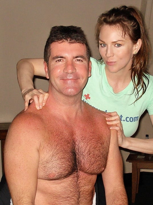 Dr. Dot with Simon Cowell