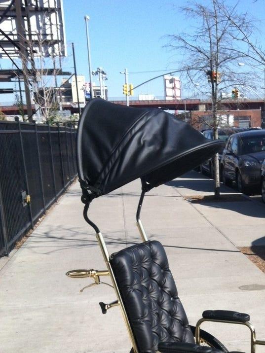 Gaga's gold wheelchair