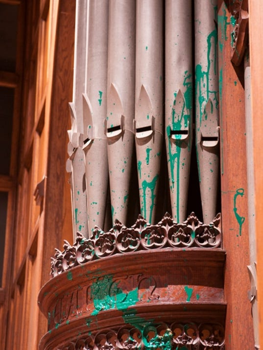 Cathedral organ paint