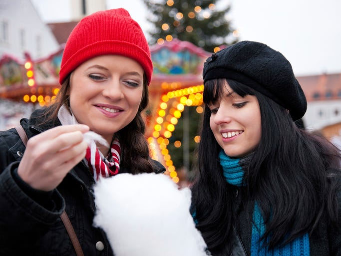 "Get in the holiday mood by shopping at a Christkindl (kris-kin-dill) market. Many of these traditional markets, which originated in Europe 400 years ago, have now sprung up in the USA. The most famous and oldest is Germany's Nüremberg Christkindlesmarkt, which means ""Christ Child's Market."""