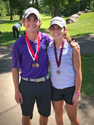 Albany siblings Cameron and Brooke Lemke each qualified for the state golf tournament last week at Blackberry Ridge in Sartell.