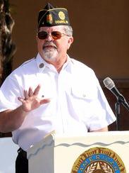 Commander Ed Miller, American Legion Bataan Post 4,