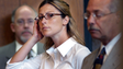 """Amber Jennings: Amber Jennings, of Sturbridge, Mass., is shown at her arraignment Aug. 2004 in Dudley, Mass. The 30-year-old Shepherd Hill Regional High School teacher was accused of having a sexual relationship with a 16-year-old student. She faced charges of inducing a minor under 18 """"to have unlawful sexual intercourse"""" and sending him nude photos of herself."""