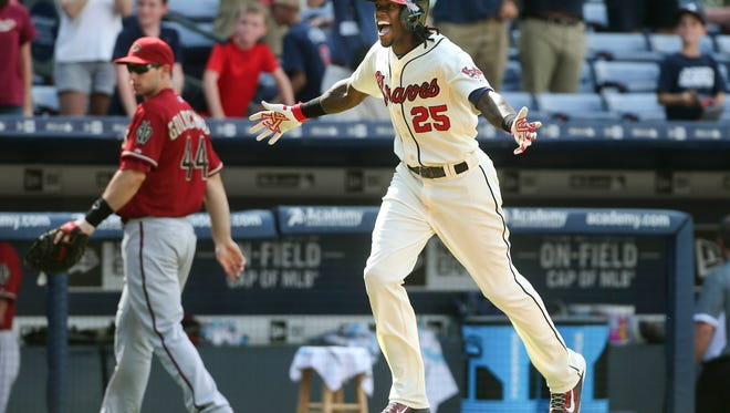 Roberson graduate Cameron Maybin is an outfielder for the Atlanta Braves.