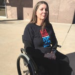 Jennifer Longdon, who was paralyzed in a shooting several years ago, opposes Senate Bill 1284.