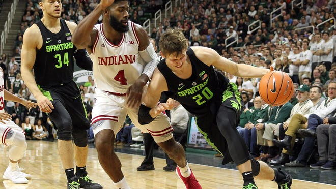 Michigan State's Matt McQuaid played perhaps his best game of the season during the Spartans' 85-57 win over Indiana on Jan. 19. He was agressive on offense and scored 11 points on 4-of-6 shooting.