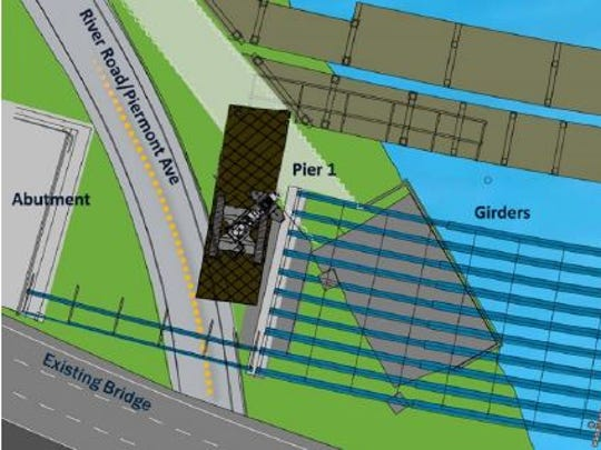 Girders are set to be installed over River Road/Piermont Avenue in Rockland this month. They will connect Pier 1 to the abutment.