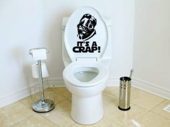 Toilet decal, $10.