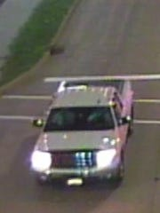 Appleton police would like to speak with the occupants of a truck caught on traffic cameras around the time of a fatal motorcycle crash on Saturday.