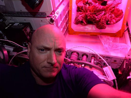 NASA astronaut Scott Kelly in 2015 took a selfie in