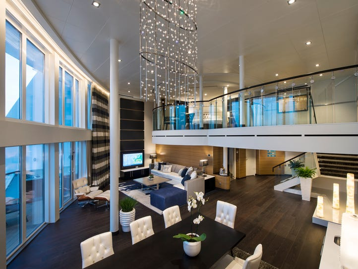 The Royal Loft suite on Royal Caribbean's Anthem of