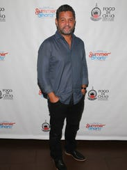 Alex Dinelaris attends the Off-Broadway opening night