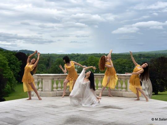 Isadora Duncan dancers Sasha Lehrer, left to right,