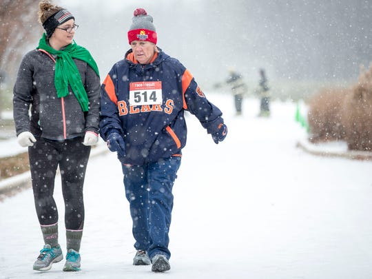 Nearly 400 runners take part in the annual Fire and