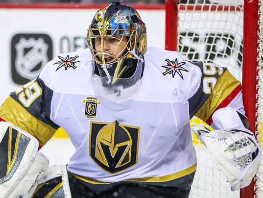 USP NHL: VEGAS GOLDEN KNIGHTS AT CALGARY FLAMES S HKN CGY VGK