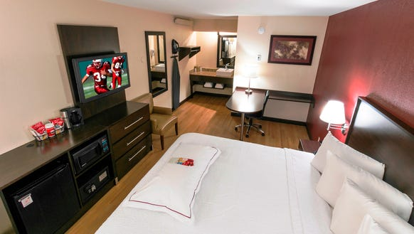Wi-Fi in rooms such as this new premium King room at