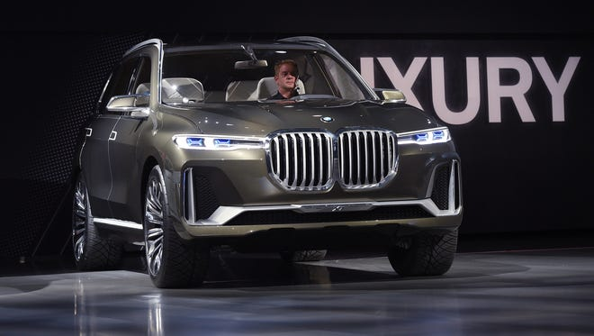 BMW unveils Concept X7 iPerformance during the auto show in Los Angeles