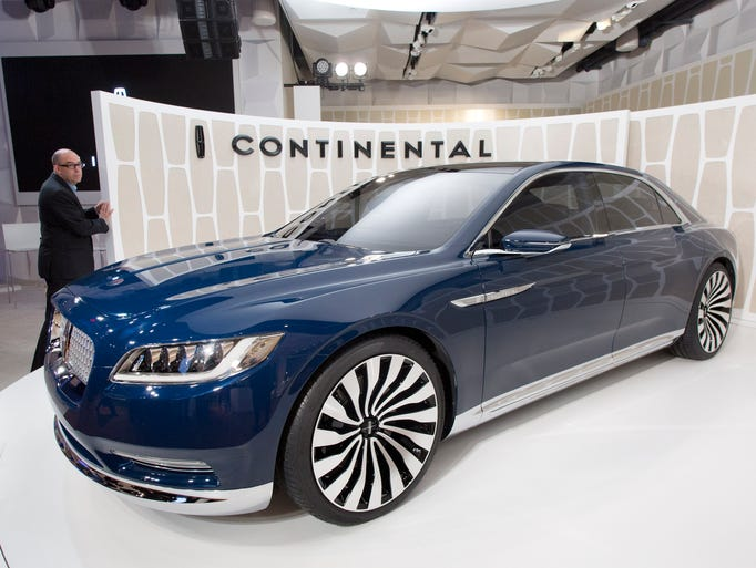 a lincoln continental concept car is shown for the. Black Bedroom Furniture Sets. Home Design Ideas