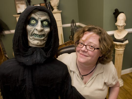 Kathy Kelly, owner of Paranormal Books and Curiosities,