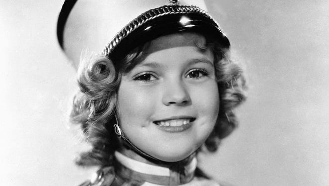 In this 1936 file photo, actress Shirley Temple is photographed as she appeared in 'Poor Little Rich Girl.'