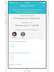 Shuddle Carpool allows parents to off-load their carpooling