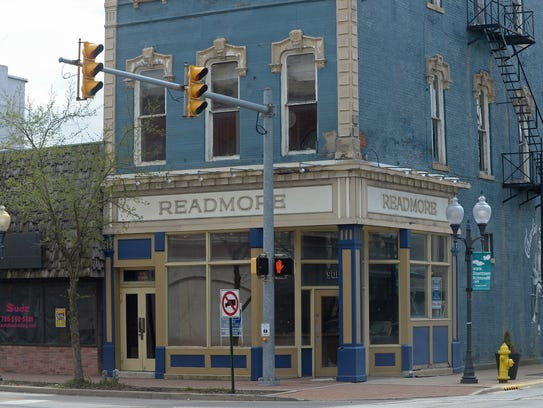 The former home of the Readmore book store at the intersection