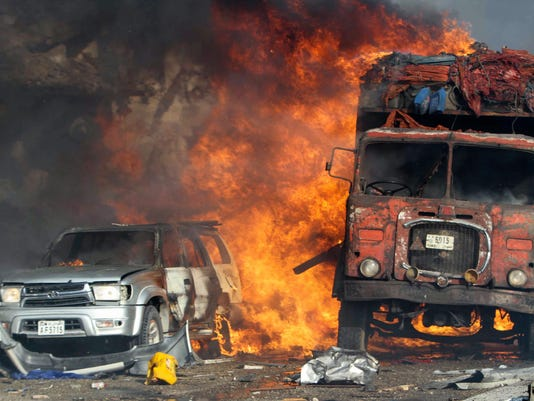 EPA EPASELECT SOMALIA TRUCK BOMB EXPLOSION WAR ACTS OF TERROR SOM