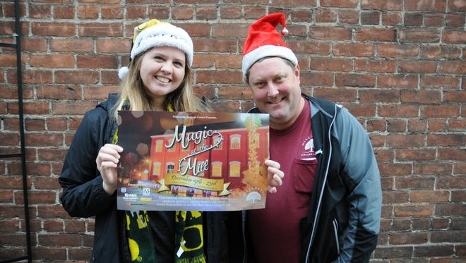 Jenna Wyatt and Sean O'Harra at the Statesman Journal's Holding Court at the Court Street Dairy Lunch in downtown Salem on Monday, Dec. 18, 2017.